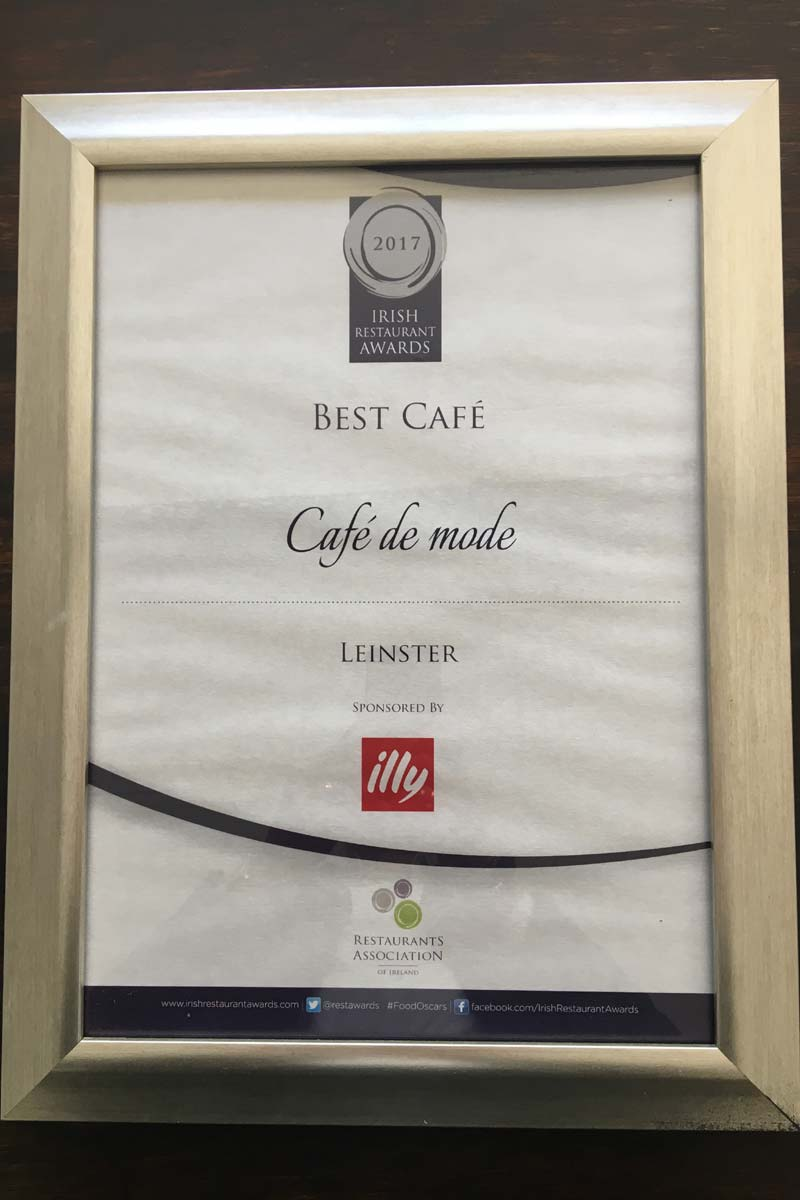 Award Winning Cafe in Ballon Carlow - Cafe De Mode